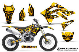 KAWASAKI KXF450 KX450F 12-15 CREATORX GRAPHICS KIT DECALS SKULLCIFIED Y - $178.15