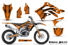 KAWASAKI KXF450 KX450F 12-15 CREATORX GRAPHICS KIT DECALS TRIBAL BOLTS O - $178.15