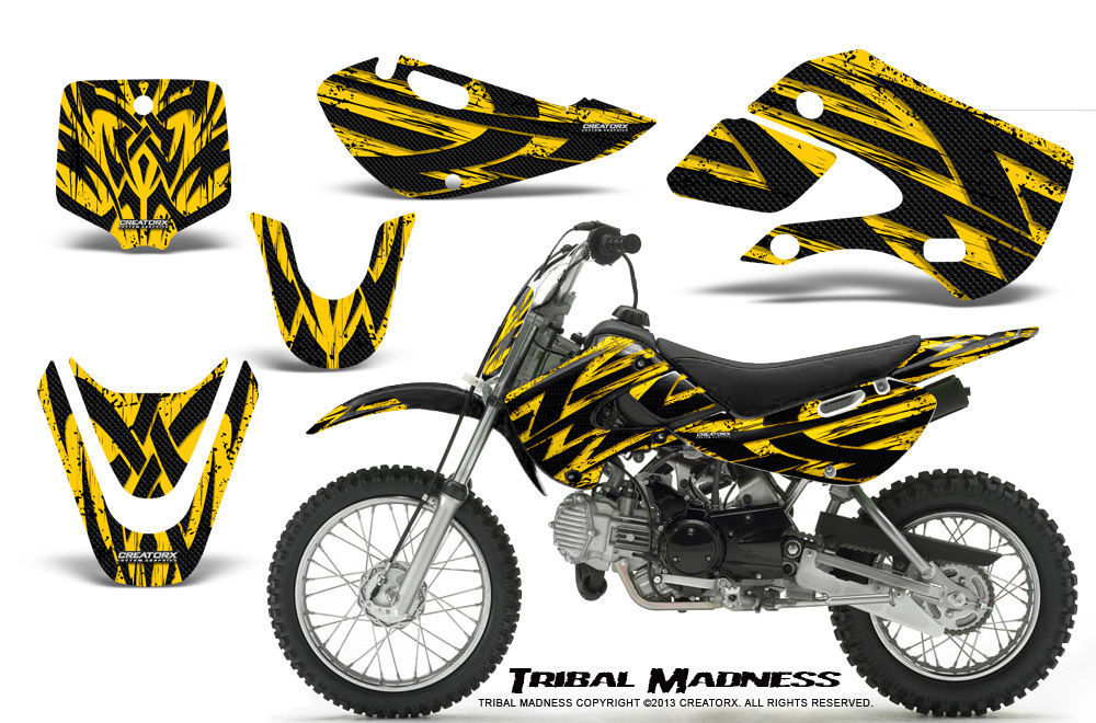 Primary image for KAWASAKI KLX110 02-09 KX65 00-12 GRAPHICS KIT CREATORX DECALS TMY