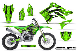KAWASAKI KXF450 KX450F 12-15 CREATORX GRAPHICS KIT DECALS TRIBAL BOLTS G - $178.15