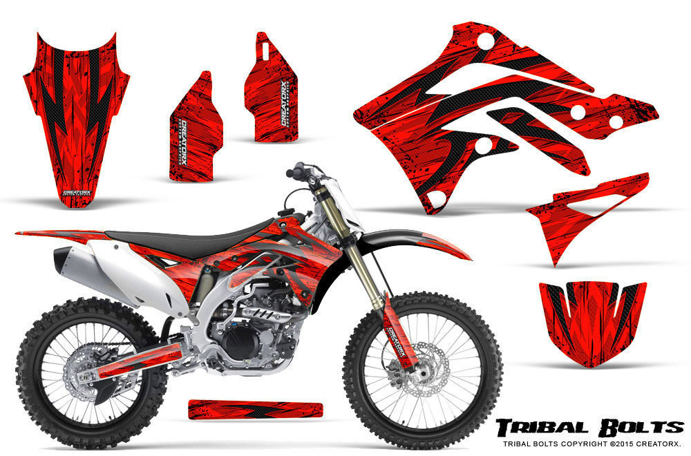 Primary image for KAWASAKI KXF450 KX450F 12-15 CREATORX GRAPHICS KIT DECALS TRIBAL BOLTS R