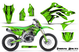KAWASAKI KXF450 KX450F 12-15 CREATORX GRAPHICS KIT DECALS TRIBAL BOLTS GNP - $257.35