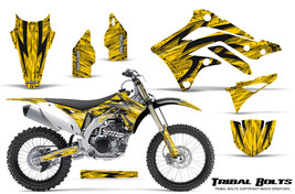 KAWASAKI KXF450 KX450F 12-15 CREATORX GRAPHICS KIT DECALS TRIBAL BOLTS Y - $178.15