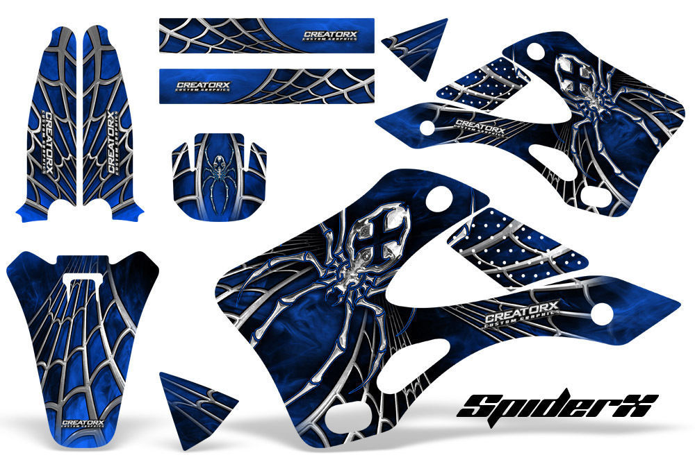 Primary image for KAWASAKI KX125 KX250 99-02 GRAPHICS KIT CREATORX DECALS SPIDERX SXBL