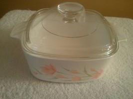 Corningware Peach Floral Casserole Dish A-1-1/2-B 1.5 Liter - $32.65