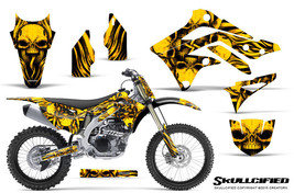 KAWASAKI KXF450 KX450F 12-15 CREATORX GRAPHICS KIT DECALS SKULLCIFIED YNP - $257.35