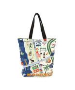 Life's a Beach Printed Canvas Tote Bag, 3 Inside Pockets, Velcro Closure... - $27.95