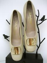 7 FERRAGAMO Shoes beige gancini buckle with SALVATORE leather gift B fUAxqww7B