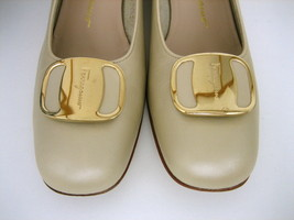 7 FERRAGAMO Shoes beige gancini buckle with SALVATORE leather gift B fUAxqww7B