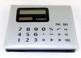 Calculator & Sticky Note Caddy, Solar Powered, 8 Digit Basic Functions, ... - $8.77