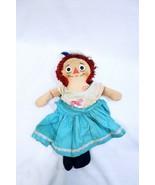 "ORIGINAL Vintage Raggedy Ann Doll I Love You 14"" Plush Stuffed - $19.79"