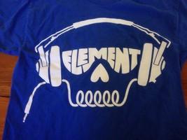 """Element Skateboarding Skater Headphones Skull Logo T-Shirt USA Made M 38"""" - $17.49"""
