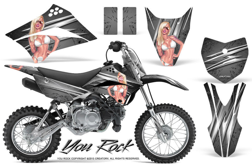 Primary image for Kawasaki KLX110L KLX 110 L 2010-2013 Graphics Kit CREATORX Decals Stickers YRS