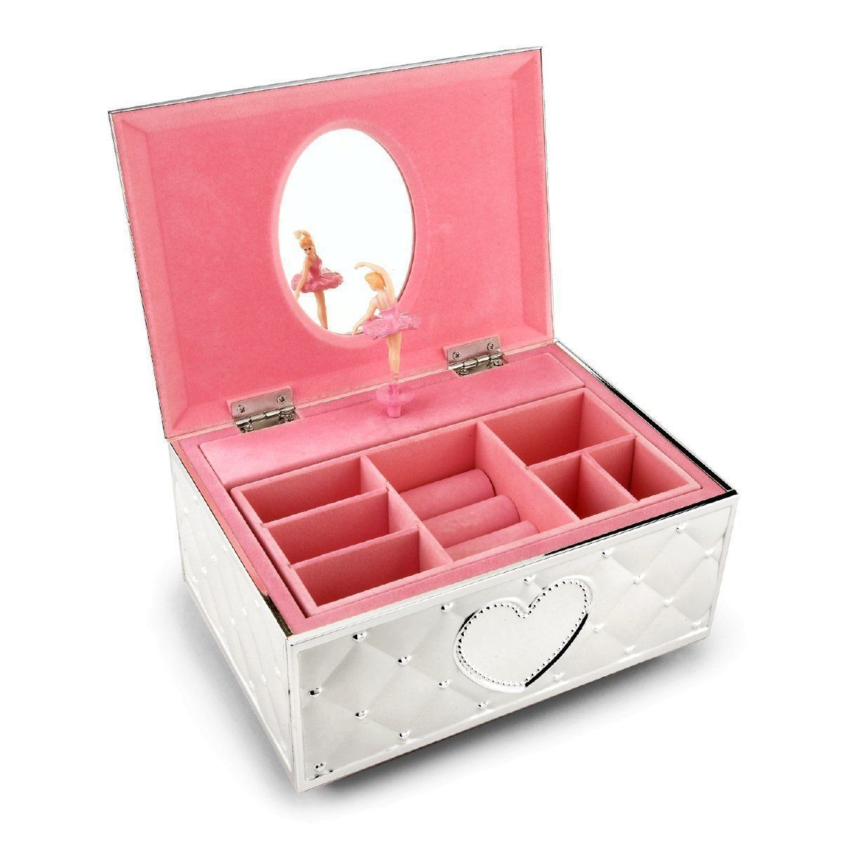 Childhood Memories Twirling Ballerina Girls Vintage Music Jewelry Box Case Gift
