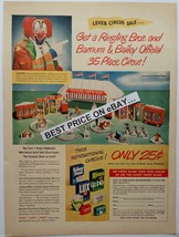 """Lever Circus Sale"" 1948 Circus Set Advertiseme... - $7.50"