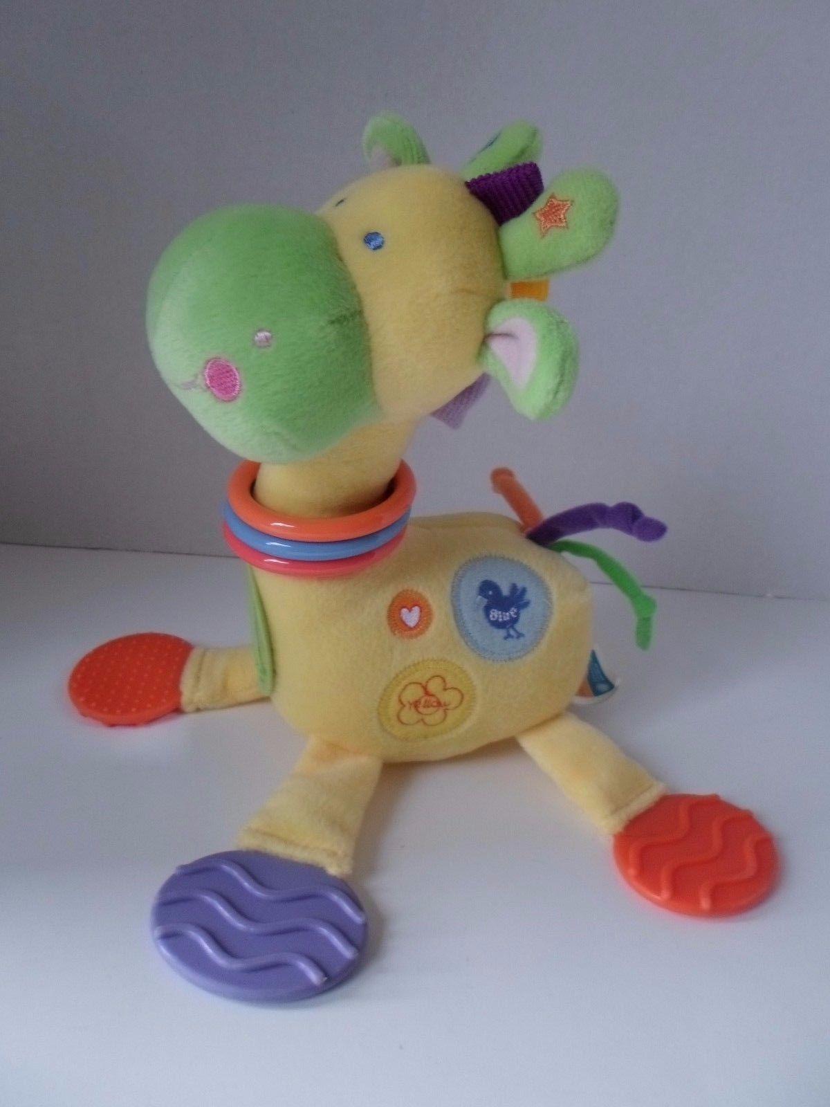 Kids Preferred Giraffe BABY Developmental Plush TOY Rattle Teether Mirror