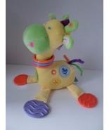 Kids Preferred Giraffe BABY Developmental Plush TOY Rattle Teether Mirror - $9.75