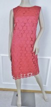 Nwt Eliza J Sleeveless Lace Shift Dress Knee Length Sz 14 W Plus Hot Pink $168 - $79.15