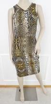 Nwt Romeo & Juliet Couture Sheath Scuba Dress Sz S Small Animal Print Brown - $59.35