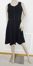 Nwt Taylor Stretch Fit  Flare Embellished Trim Sleeveless Dress Sz 10 Black $138 - $67.27