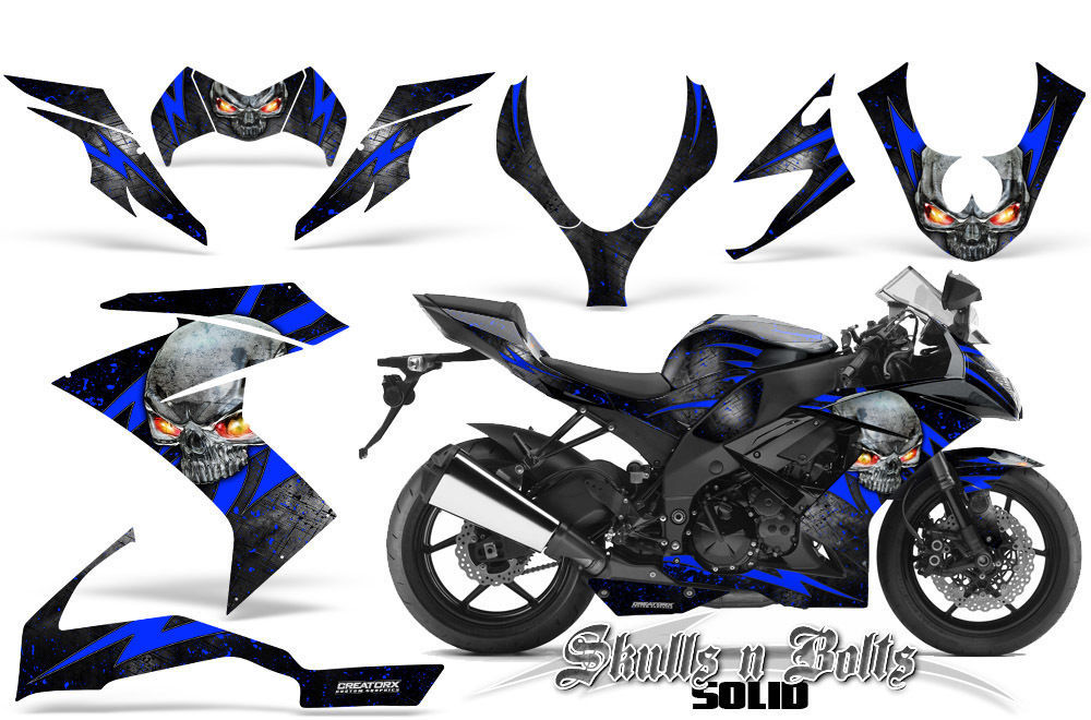Primary image for KAWASAKI ZX10 NINJA 08-09 GRAPHICS KIT CREATORX DECALS STICKERS SNBSDBLB