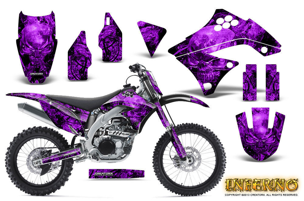 Primary image for KAWASAKI KXF450 KX450F 09-11 GRAPHICS KIT CREATORX DECALS INFERNO PRNP