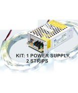 Kit: 150W Power Supply+ 2x 16' LED Strips, Bright Wht, Florescent Tube R... - $58.30