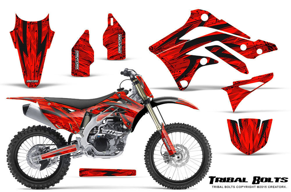 Primary image for KAWASAKI KXF450 KX450F 12-15 CREATORX GRAPHICS KIT DECALS TRIBAL BOLTS RNP