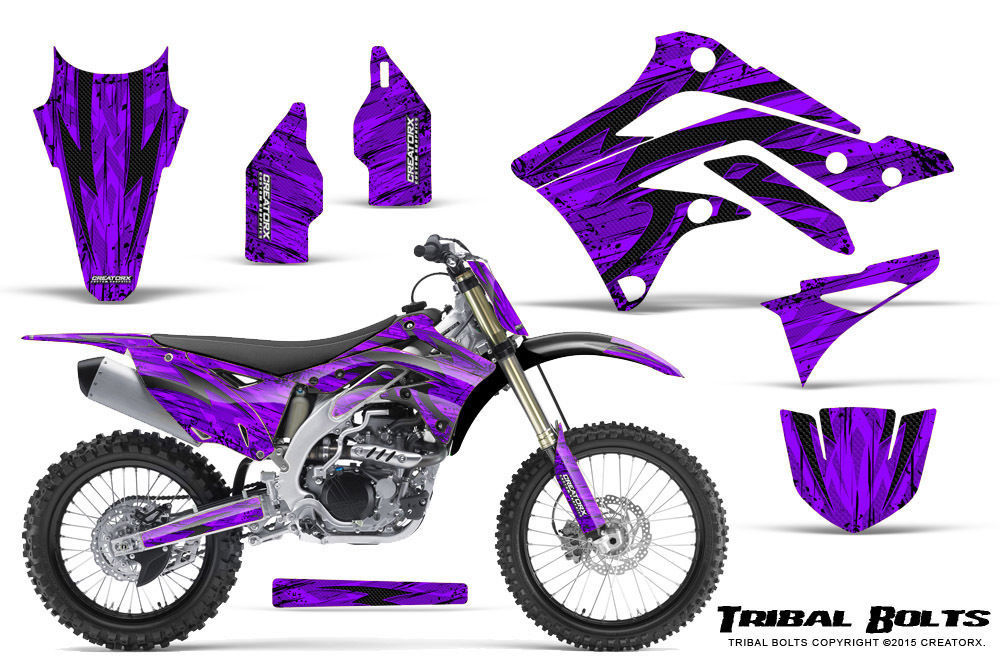 Primary image for KAWASAKI KXF450 KX450F 12-15 CREATORX GRAPHICS KIT DECALS TRIBAL BOLTS PRNP