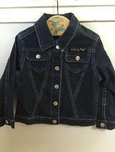 Baby Phat Girlz Denim Blue Jean Jacket Embroidered Silver Cat On Back 4 - $28.90