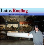 20' x 16' 60 MIL WHITE EPDM RUBBER ROOFING BY THE LOTTES COMPANIES - $570.24