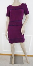 Nwt Romeo & Juliet Couture Open Knit Sweater Dress Sz M Medium Violet Na... - $59.35