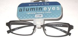 Magnivision Alumineyes AL 19 Black Metal Reading Glasses +1.25 - $19.99