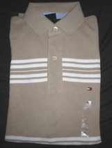 Nwt Mens Tommy Hilfiger S/S Beige Polo Shirt Xs X Small - $19.99