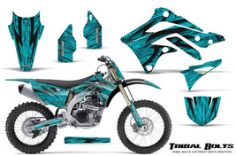 KAWASAKI KXF450 KX450F 12-15 CREATORX GRAPHICS KIT DECALS TRIBAL BOLTS TNP - $257.35
