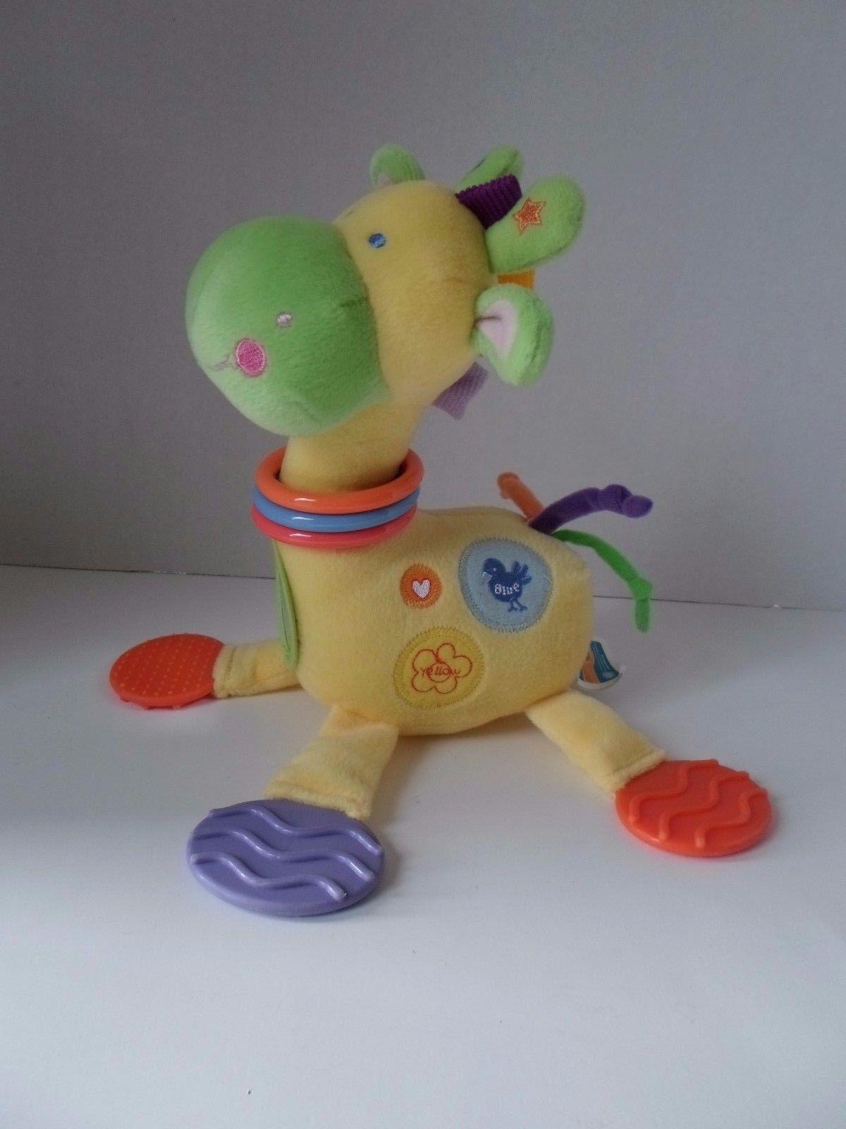 Kids Preferred Giraffe BABY Developmental Plush TOY Rattle Teether Mirror image 3