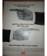 Life Magazine Print Magazine Ad 1965 - $4.99