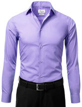 Berlioni Italy Men's Slim-Fit Premium French Convertible Cuff Solid Dress Shirt image 11