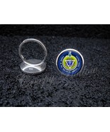 925 Sterling Silver Adjustable Ring No Religion Higher Than Truth Theosophy - $34.65