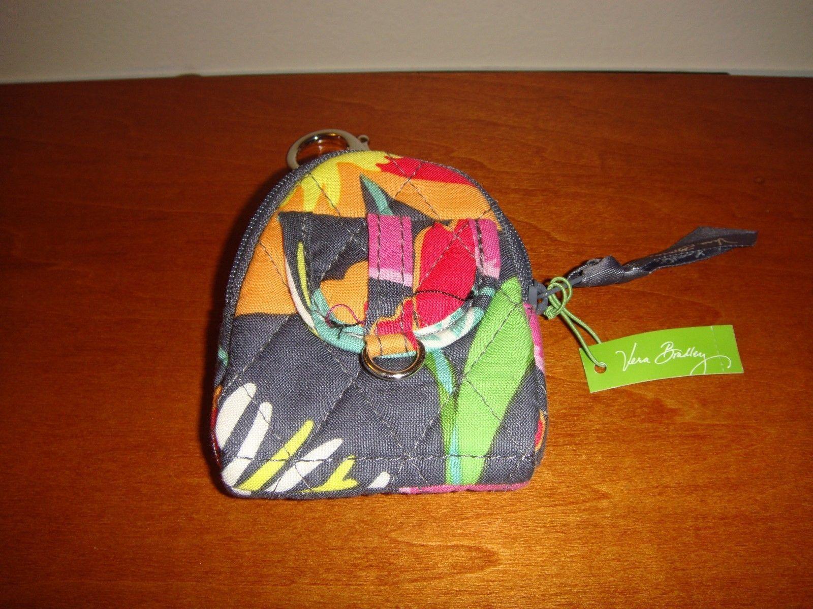 Vera Bradley Jazzy Blooms Bitty Backpack Keychain