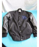 Frito-Lay Warehouse Olympics Black Leather Letterman's Jacket XL - $99.04