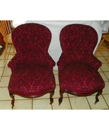 Pair of Rosewood Slipper Parlor Chairs / Sidech... - $5,999.00