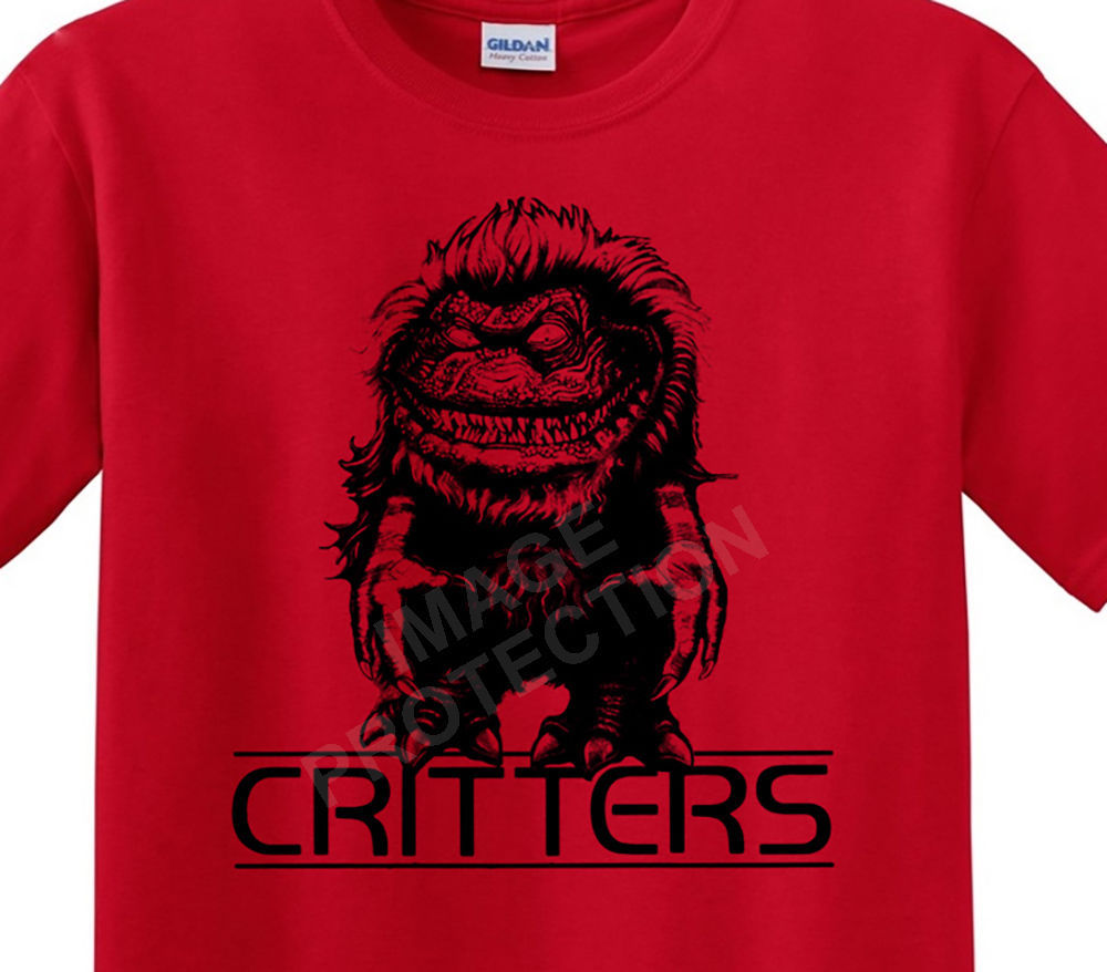 CRITTERS t-shirt retro horror film 80's 100 % cotton graphic tee Ghoulies