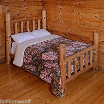 7PC PINK CAMO CAMOUFLAGE Woods Luxury QUEEN SIZE Sherpa Blanket + Sheet Set - $119.95