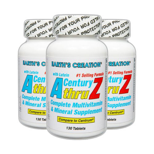 Century A thru Z Multivitamin with Lutein - 130 tablets by Earth's Creation USA