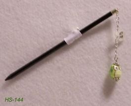 """HS-144 -6"""" Long Hair Stick  W/Light Green Owl P... - $7.92"""