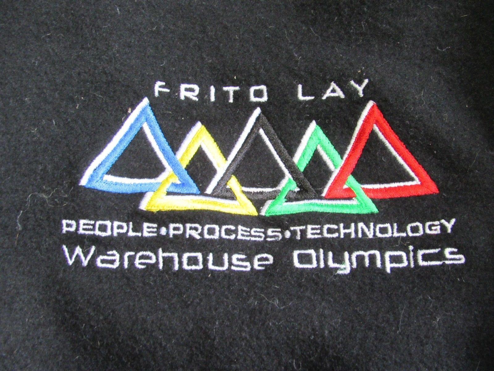Frito-Lay Warehouse Olympics Black Leather Letterman's Jacket XL