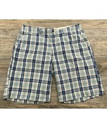 American Eagle Plaid Shorts Men's Size 38 Chino Flat Front 100% Cotton  - $17.81