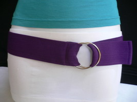 NEW WOMEN HIGH WAIST HIP STRETCH PURPLE FASHION ELASTIC FABRIC BELT SIZE... - $13.71