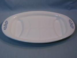 Vintage Corning Ware Blue Cornflower Oval Roaster Platter Pyroceram Cookware - $32.99